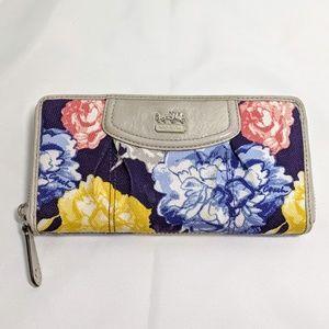 """Coach floral wallet 8"""" x 4"""""""